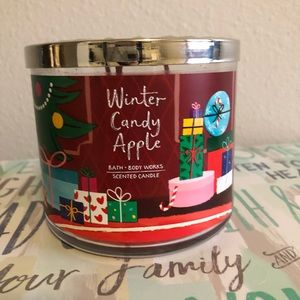 Winter candy apple bath and body works candle